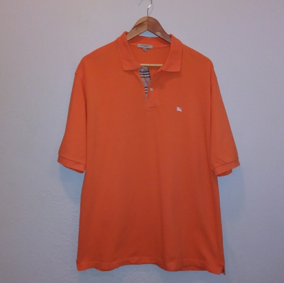 2cb36ed38 Burberry Shirts | London Orange Polo | Poshmark